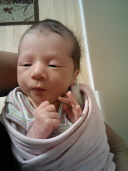 Ruby Nilalei (first born) weighed in at 5 pounds and 6 ounces and 18 inches