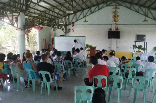 The Church of Jesus Christ of Latter-Day Saints is now on the island of Siquijor and they were able to attend worship service and classes before heading on the ferry and plane back to Manila