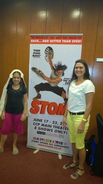 Evening out with Kalani to watch the performance STOMP