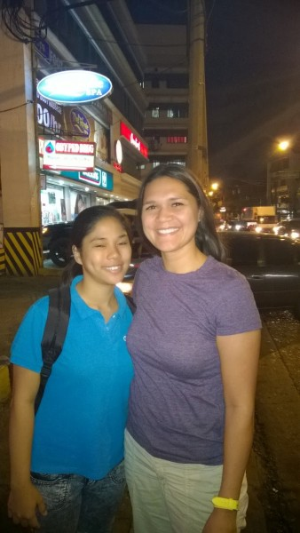 Lei got to meet our cousin Marites in Manila