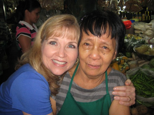 Rosalyn found the grandmother of her co-worker selling vegetables at a local wet-market