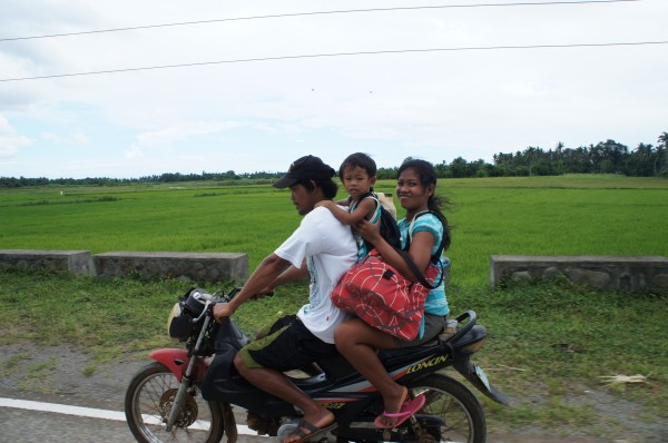 "On our way to our next destination we came across the ""Filipino Family Vehicle"""