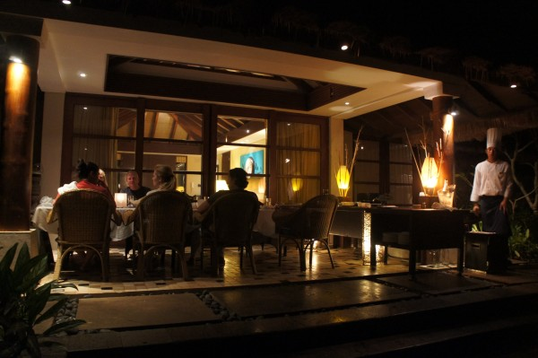 We had our own private dinner at our villa where enjoyed a 3 course meal and had some good conversations.