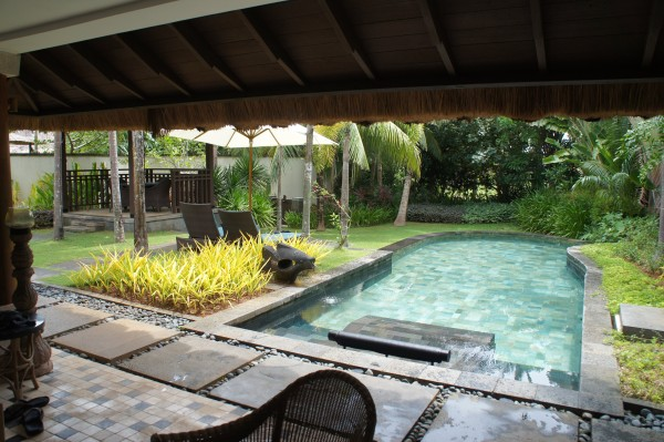 Our private pool at one of the villas which the kids really enjoyed.