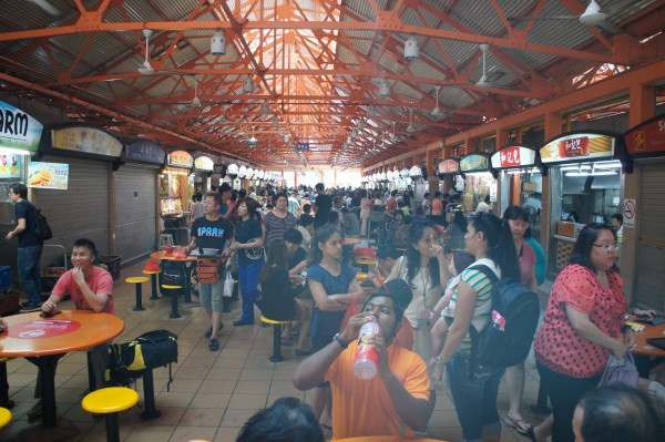 We ate lunch like locals at the hawker stations