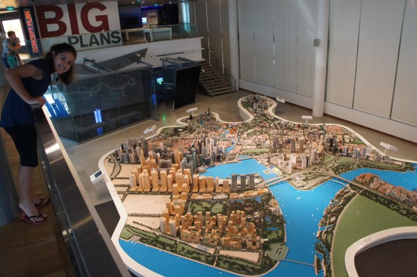 Our tour guide took us to this model of SIngapore. It shows what developments they plan on making in the next 5,10, & 50 years!