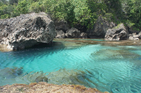 Traveled around the island to Magpaponko Swimming Hole during low tide.