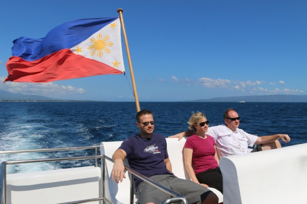 We took a plane and then a boat ride on the Coco Princess to get to Siquijor island.