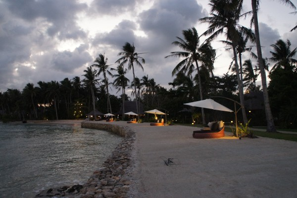 Kalinaw Resort at dusk. The owners have made this such a nice resort with the little details.