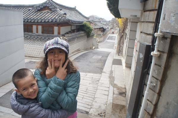 We walked the streets of Bukchon-ro where people live in the old style Korean homes.