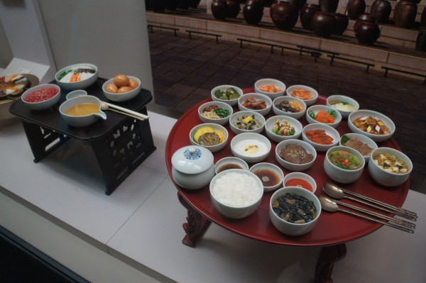 In Korea there are so many side dishes during meal time.