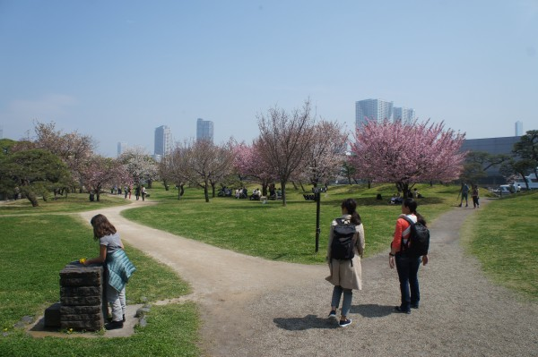 We were able to have beautiful weather while exploring Hama-Rikyu Garden