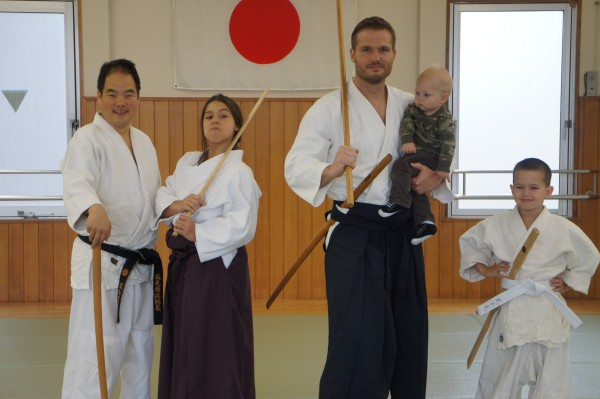 We got to have a private Aikido class for about an hour.