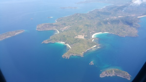 Palawan island as seen from the plane...El Nido is there somewhere.
