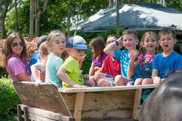 We had beautiful weather and lots of friends to be with while enjoying a morning at The Fun Farm.