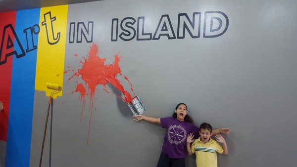 First activity of the summer was to go to a 3D art gallery called Art In Island