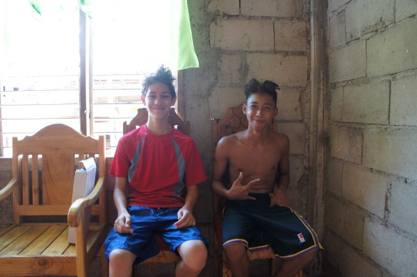 One cousin from California and the other from Siquijor. Same age and built similarly.