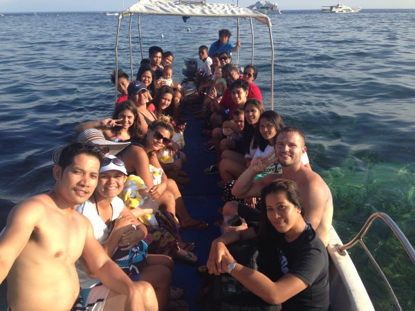 More than 20 of us woke up by 5am to take a boat to Oslob to see whale sharks.