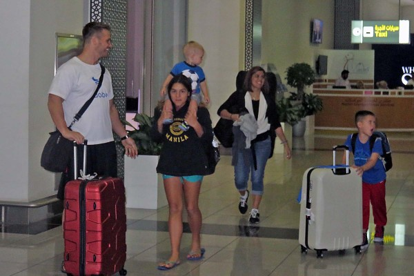 We made it to Abu Dhabi where our friends were waiting to pick us up.