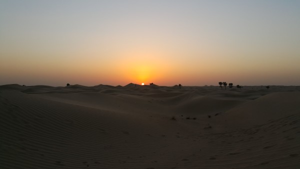We stopped and watched the sunset during our time of dune bashing.