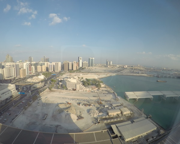 View from our friend's condo of Abu Dhabi.