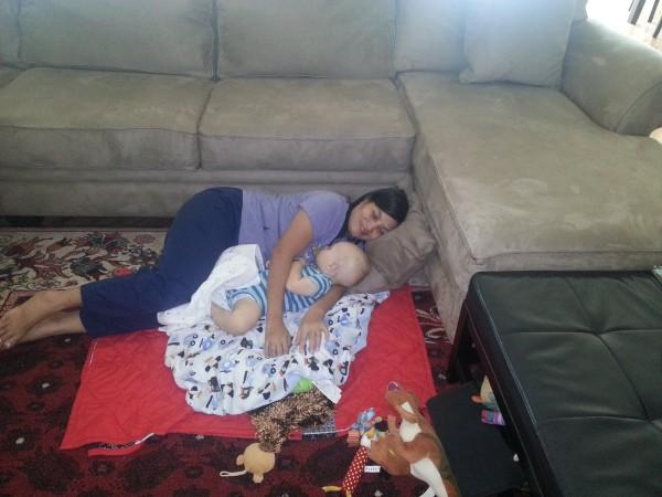 Helen taking good care of Baby Blake