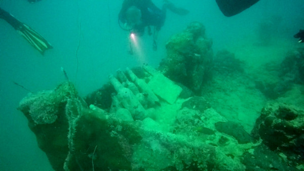 Our last dive was at Helmet Wreck. This was our first wreck dive and it was pretty cool to see a ship from World War II.
