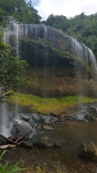 The main reason why we came here was to see the waterfall.