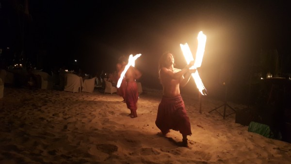 Coco Grove fire dancers also performed.