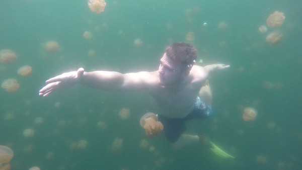Matt decided to do a dance with the jellies.