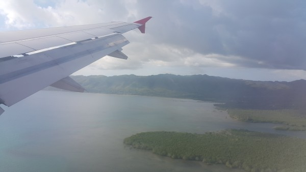 Getting ready to land in Bohol.