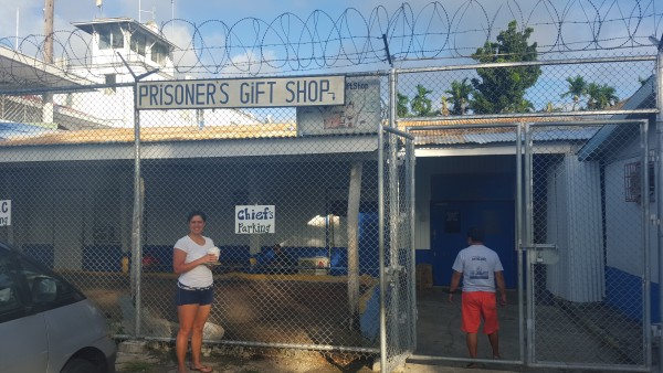 We were looking for souviner items to take home on New Year's Day and many shops were closed. Our driver/tour guide took us to the jail to check out their gift shop.