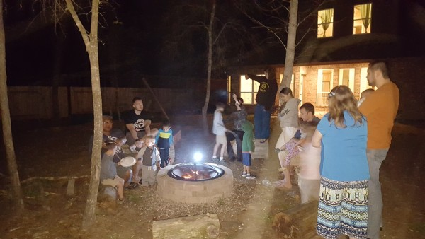 We enjoyed a campfire and taught the kids some fire safety tips.