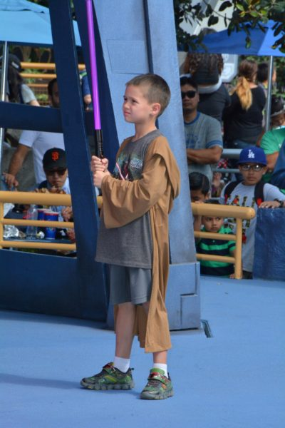 Mason was able to participate in the Jedi Training.