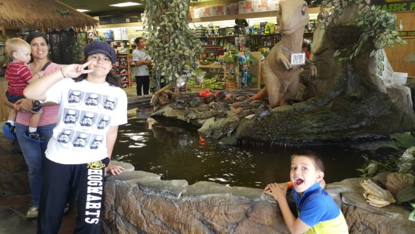 We made a stop at the Reptile Zoo. A show that we watch is filmed here often.