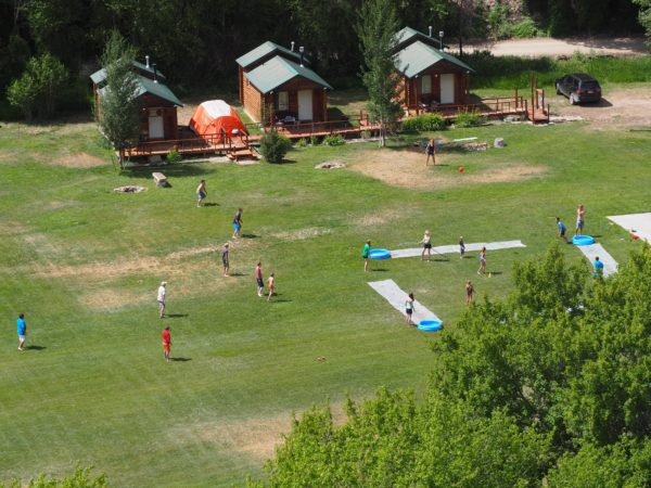 After lunch my aunt and I set up slip-n-slide kickball for anyone who wanted to participate.
