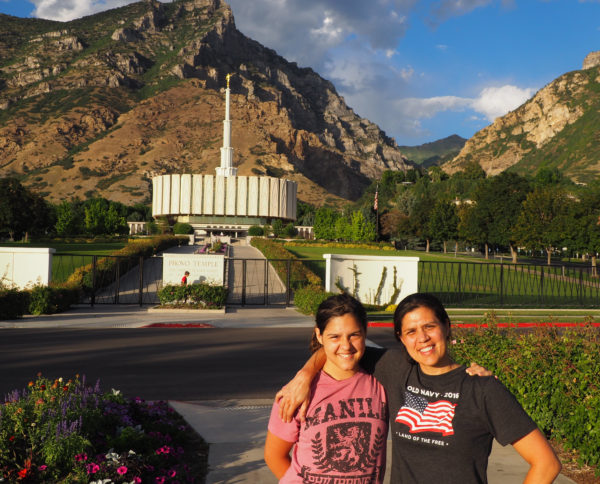 My brother lives only a couple of blocks away from the Provo Temple so I took the opportunity to show our kids that temple and any others that we came across.