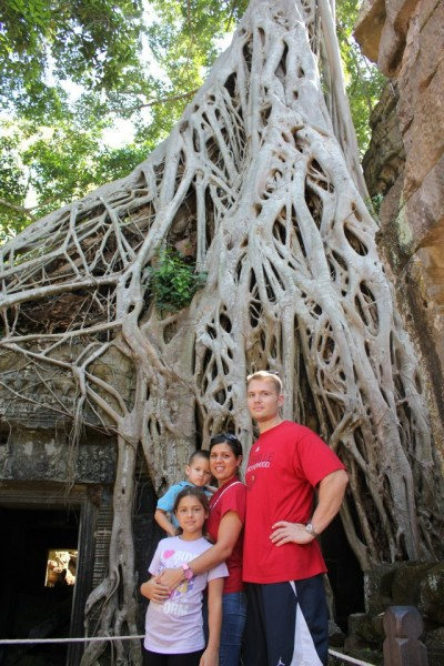 """Ta Prohm Temple is referred to as """"The Tomb Raider""""  Angelina Jolie stood in this very spot (so they say)"""