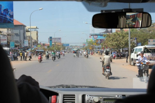 Cambodian roads where clean...at least the areas that they tourist see