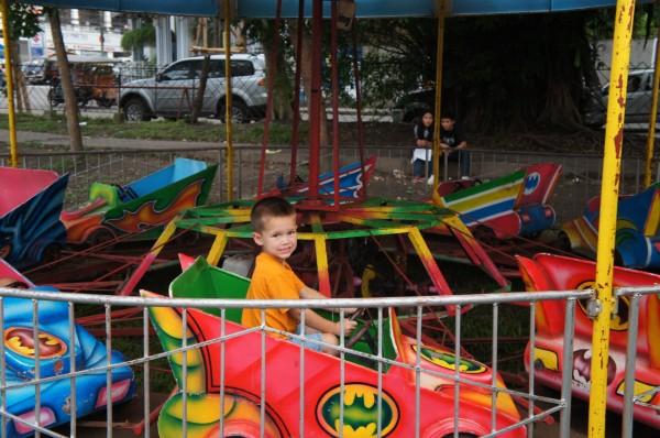 "Mason found a ""Bat Mobile"" at a ""county fair"" type place"