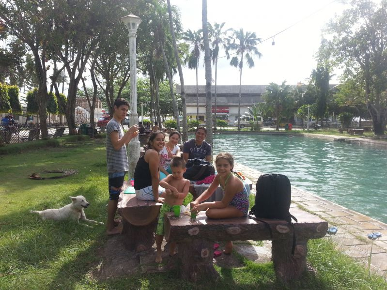 Capilay Springs - swimming and relaxing ... parts of this area was also damaged by Typhoon Pablo