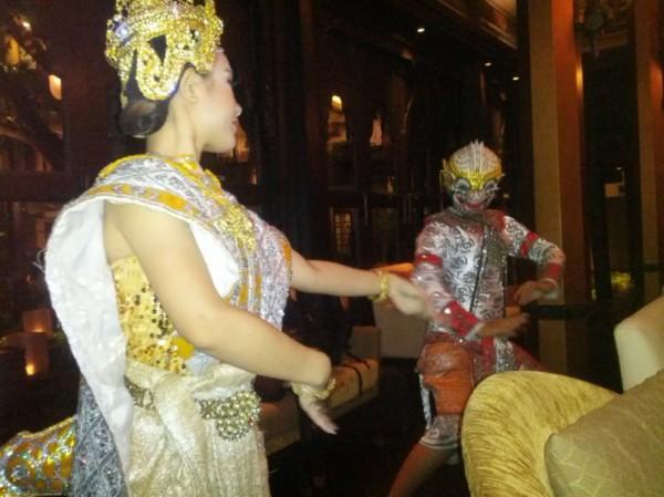 Traditional dancing performed at a Bangkok restaurant