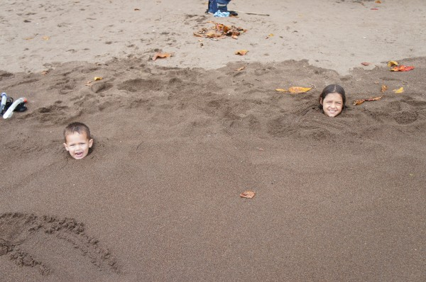 If there is a beach, our kids want to be buried