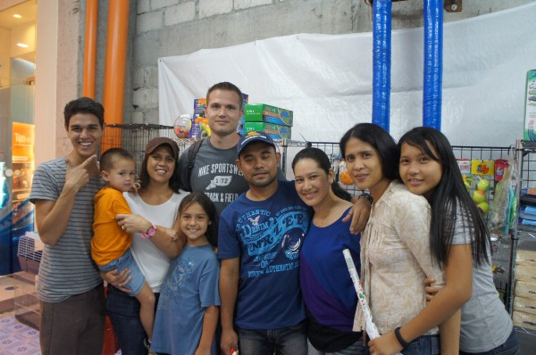 All of the family that happened to be at the mall in Dumaguete
