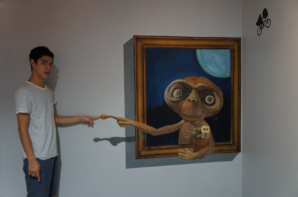 We had a lot of fun taking photos at two different 3D art places