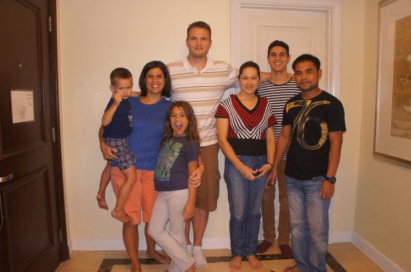 Robbie got to meet our cousins from the Philippines for the first time