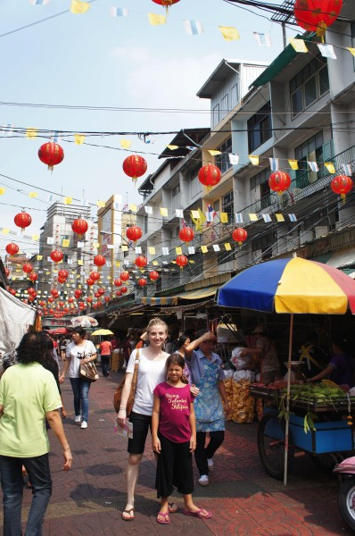 Exploring China Town...very busy place and full of crafting supplies and other items