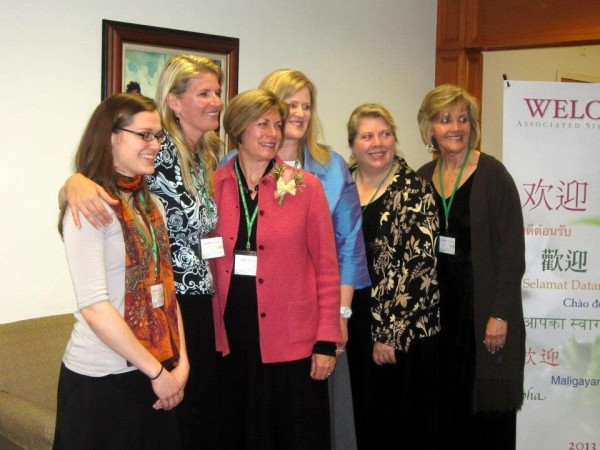 Julie B. Beck and other visitors from the United States that spoke/helped out during the conference