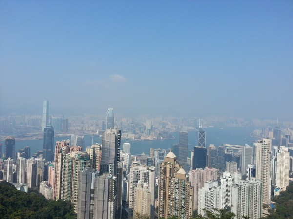 The view of Hong Kong as seen from Victoria Peak
