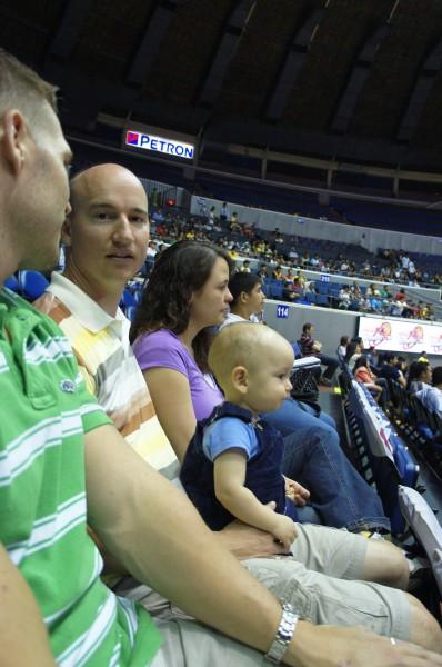 Enjoying a PBA (Philippine Basketball Association) game